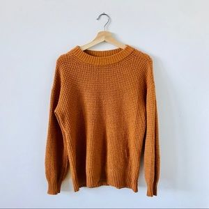 Oversized AE Sweater in Pumpkin — XS